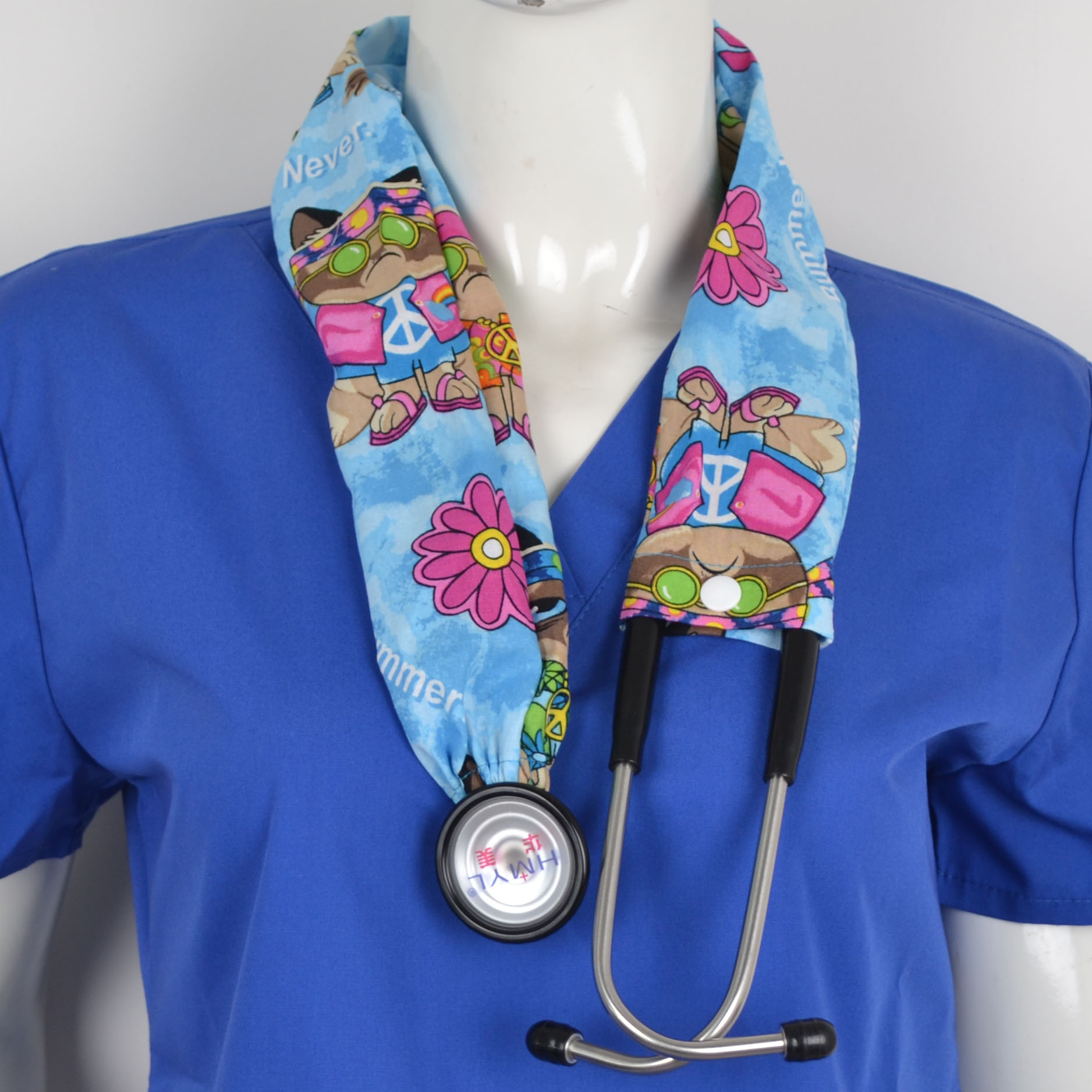 Medical Stethoscope Cover Cotton Material In Red