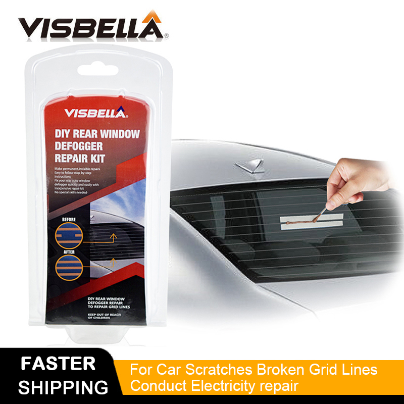 VISBELLA DIY Rear Window Defogger Repair Kit For Car Scratches Broken Grid Lines Conduct Electricity Easily Hand Tool Sets
