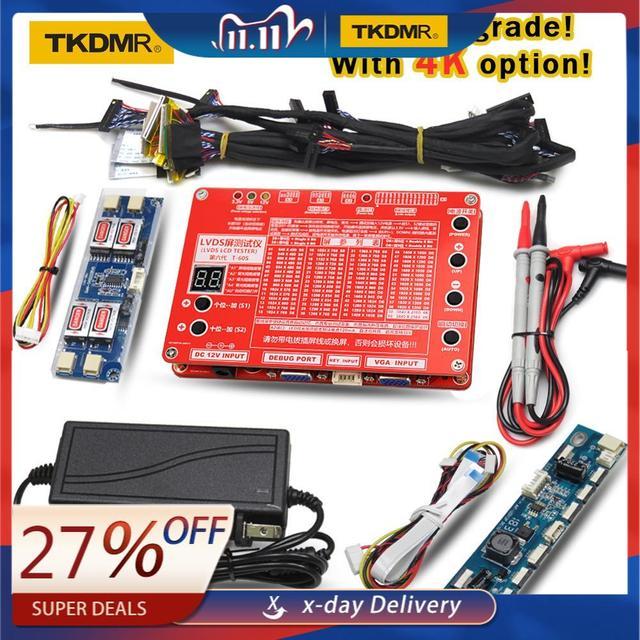 """En 6th nesil dizüstü bilgisayar TV/LCD/LED Test aracı LCD Panel Test cihazı desteği 7  84 """"w/ LVDS arayüzü kabloları ve invertör ücretsiz kargo"""