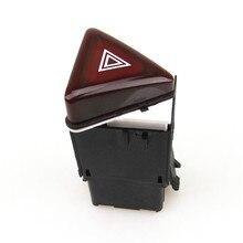 Readxt vermelho escuro aviso de perigo interruptor flash botão interruptor de emergência para golf 5 mk5 coelho 18g 953 509 18g953509