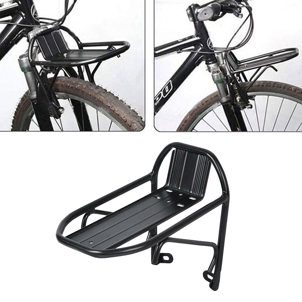 Black Bicycle Front Rack Mountain Bike Station Wagon Foldable Bike Stand Holder
