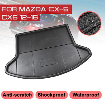 Car Rear Trunk Boot Mat For Mazda CX-5 CX5 2012 2013 2014 2015 2016 Waterproof Floor Mats Carpet Anti Mud Tray Cargo Liner image