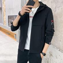 Новинка весна осень 2020 Мужская одежда промытая куртка с капюшоном