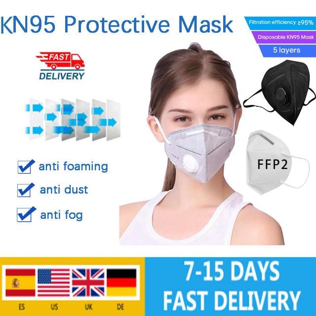 KN95 face mask anti dust mouth facial masks ffp2 mask filter respirator reusable disposable protection n95 mascarillas masque