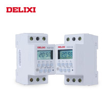 Delixi Microcomputer Timer Power Switch Relay AC 220V Digital LCD Tampilan Power Programmable Timer Kontrol dengan DIN Rail Mount(China)