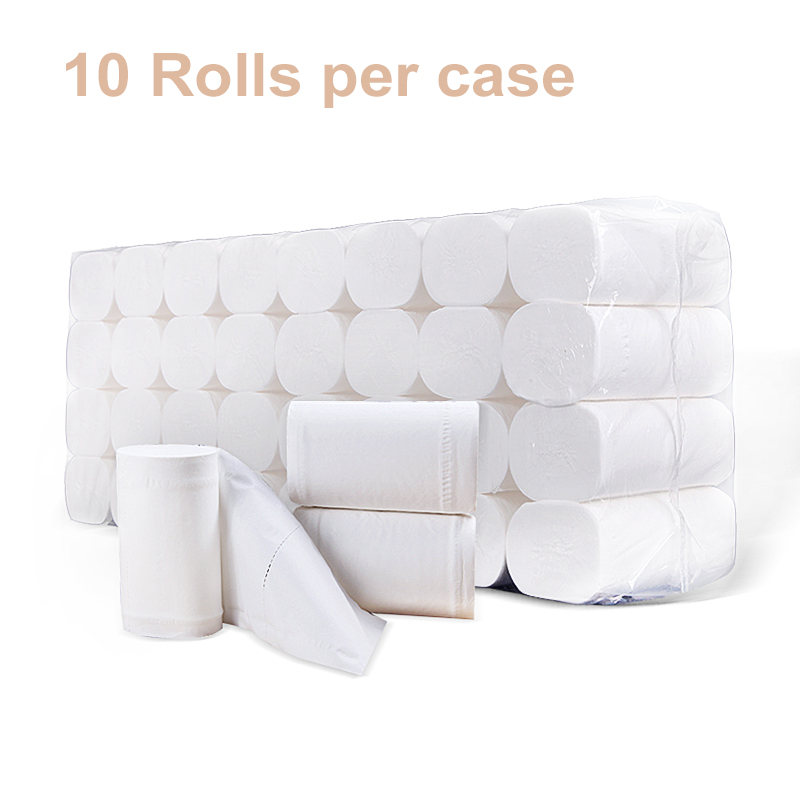 White Toilet Paper Roll Compact Coreless 3-Ply Recycled Toilet Paper Silky Smooth Soft Septic-safe 10 Rolls Per Case 4-ply