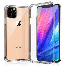 Akcoo Anti-Drop Crystal TPU Case for iPhone 11 Pro Max Back Cover Air Hybrid Slim Protective Case for iPhone 6 7 8 Plus XR XS protective tpu back case w anti dust plug for iphone 5 translucent purple