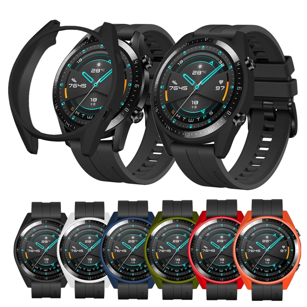 TPU Case Cover For Huawei Watch GT 2 & Watch GT Protector Frame For Huawei GT 2 GT 46mm Smart Watch Bracelet Protective Shell
