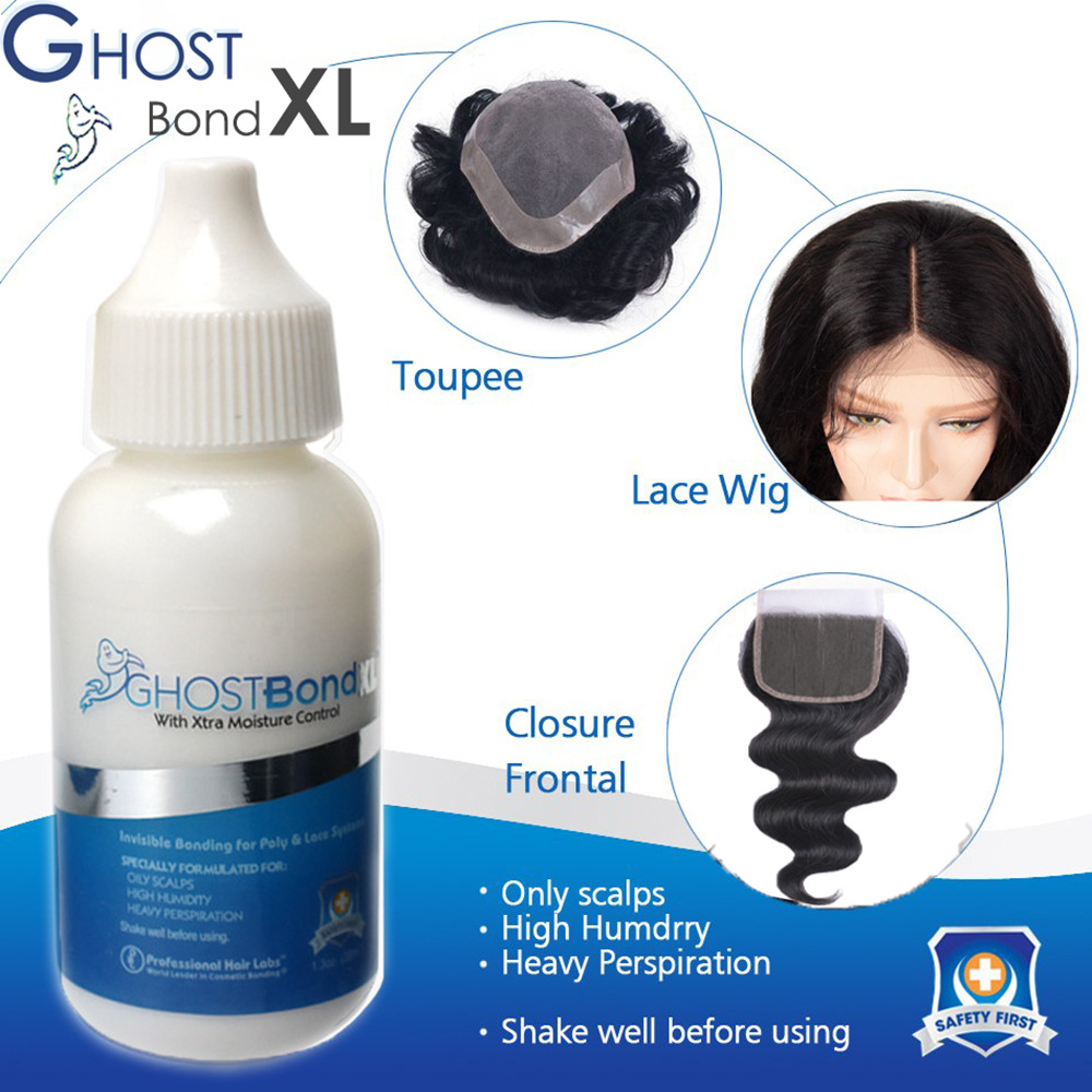 GHOST Bond 38mL Lace Wig Glue Wig Invisible Adhesive Hair Extension Liquid Replacement Tool 1.3 Fl Oz Bond Hair Styling Glue