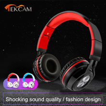 Wired/Wireless Dual use Portable Folding Adjustable Headphone With Microphone Subwoofer Bluetooth Wireless Headphones Gifts Sale silent disco compete system black folding wireless headphones quiet clubbing party bundle 100 headphones 3 transmitters