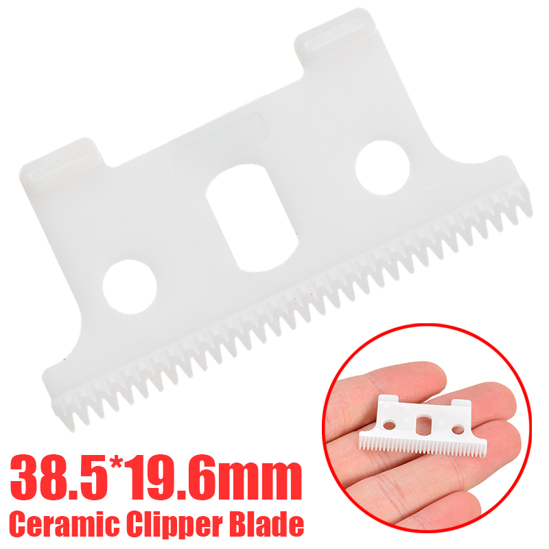1Pc New T-outliner Replacement Ceramic Blade Cutter Clipper Blade Cutter Trimmer White For Andis 38.5*19.6mm image
