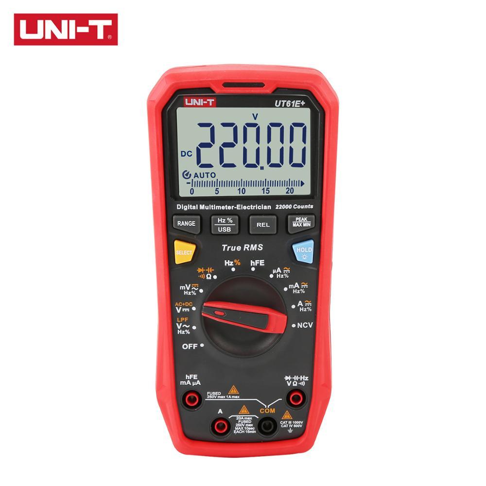 UNI-T UT61E + UT61B + UT61D + 1000V True RMS цифровой мультиметр, оснащенный звуковой и видимой сигнализацией