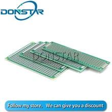 5Pcs 2*8cm 3*7cm 4*6cm 5*7 centímetros Double-Sided Protoboard Placa De Ensaio Universal Placa PCB 2x8 3x7 4x6 5x7 CM 2.54 placa de circuito do pwb do milímetro