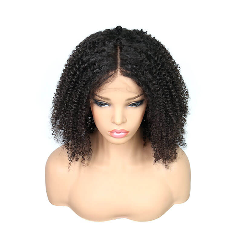 Eseewigs 100% Human Hair Full Lace Wigs Afro Kinky Curly Hair Wig Bleached Knots Lightly Pre Plucked Hair Line with Baby Hair