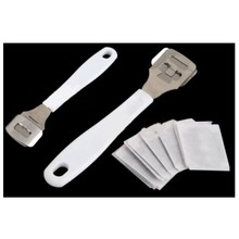 Foot Pedicure Callus Dead Dry Skin Remover kit Tool with 10Pcs Shaving Blades Foot Care Exfoliating