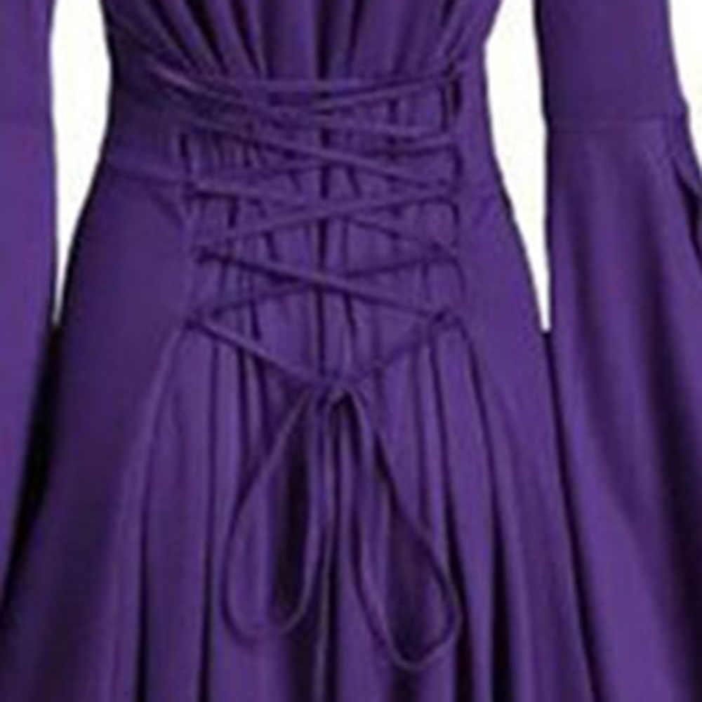 Retro sukienka z kapturem damska z długim rękawem Goth nadrukowana czaszka asymetryczna gotycka sukienka Vintage Party Halloween kostiumy damska sukienka