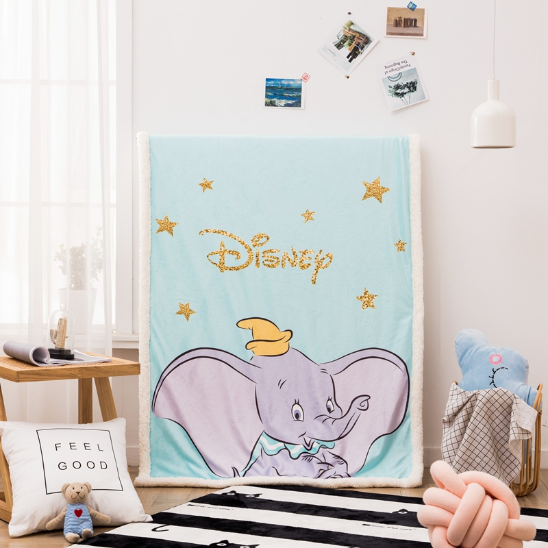 Disney Dumbo Cashmere Blanket Throws For Baby Kids Throws Blanket Covers Flatsheet Bed Sheets Kids Gifts