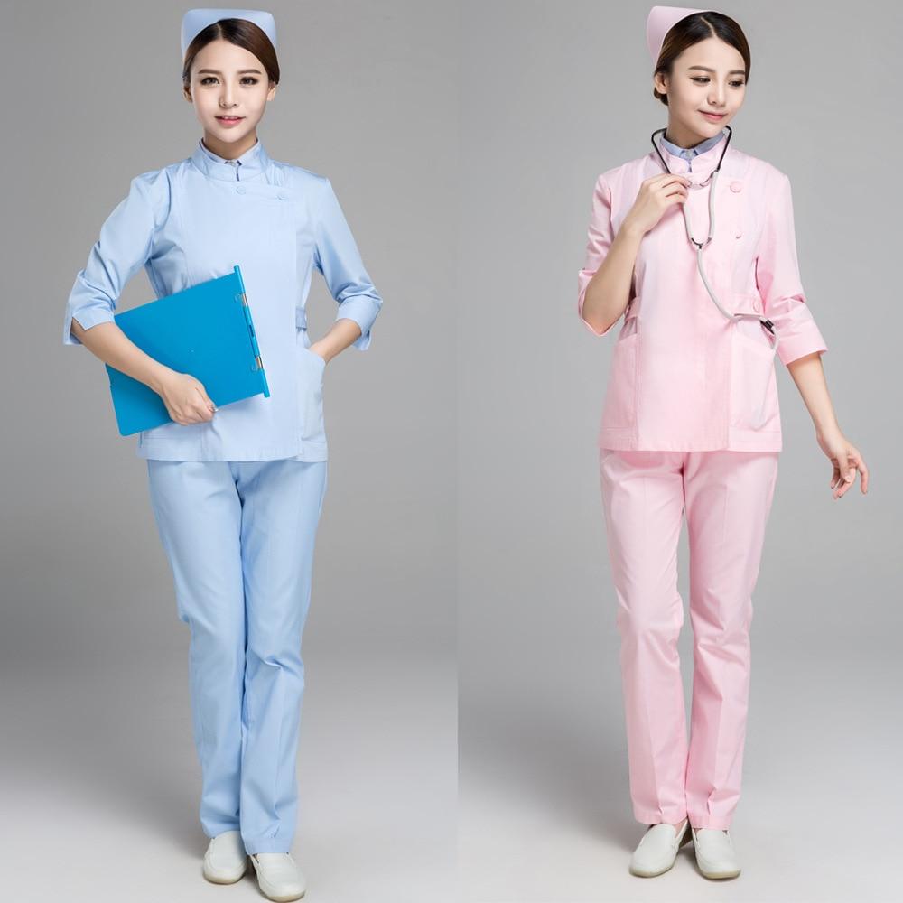Labor Safety Doctor Nurses' Uniform White Coat Pharmacy Dental Workwear Health School Experimental Medical Use Work Clothes Spri