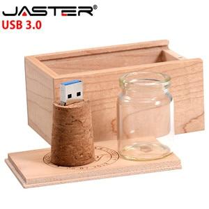 Image 5 - JASTER USB 3.0 boîte de curseur en bois + bouteille de dérive modèle clé USB 4GB 8GB 16GB 32GB 64GB 128GB clé USB LOGO personnalisé