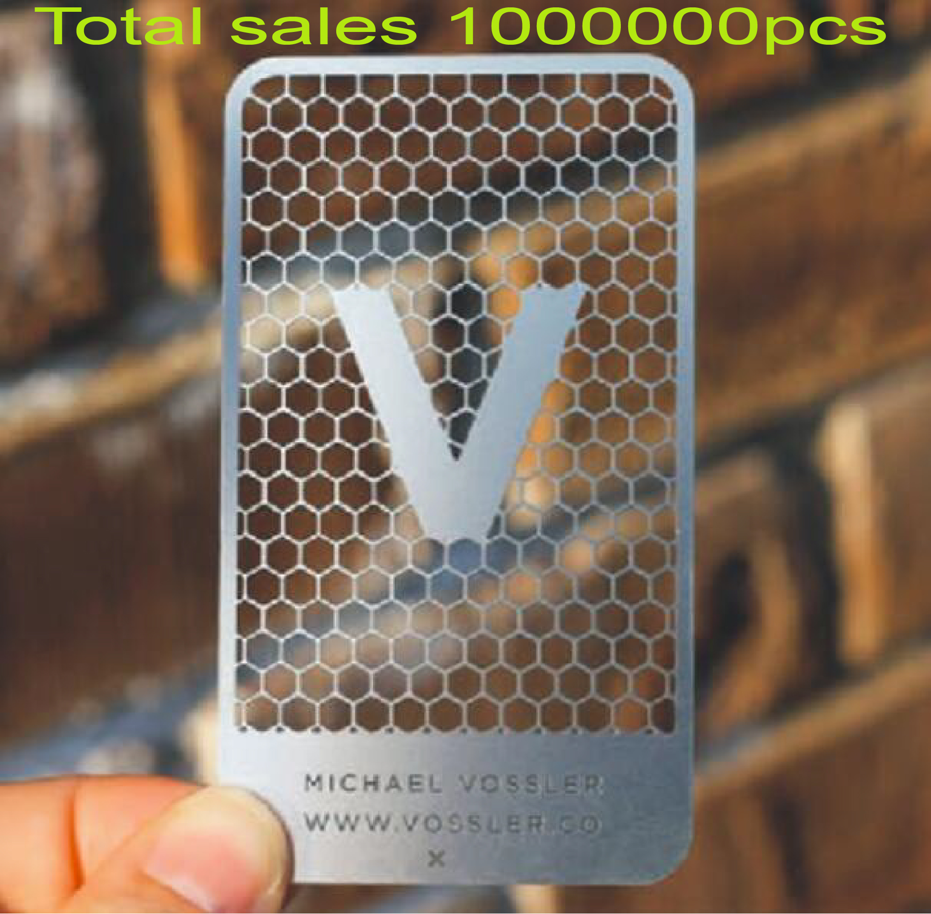 2020 New Design Factory Price High Quality Stainless Steel Card Metal Hole Punched Business Cards Printing