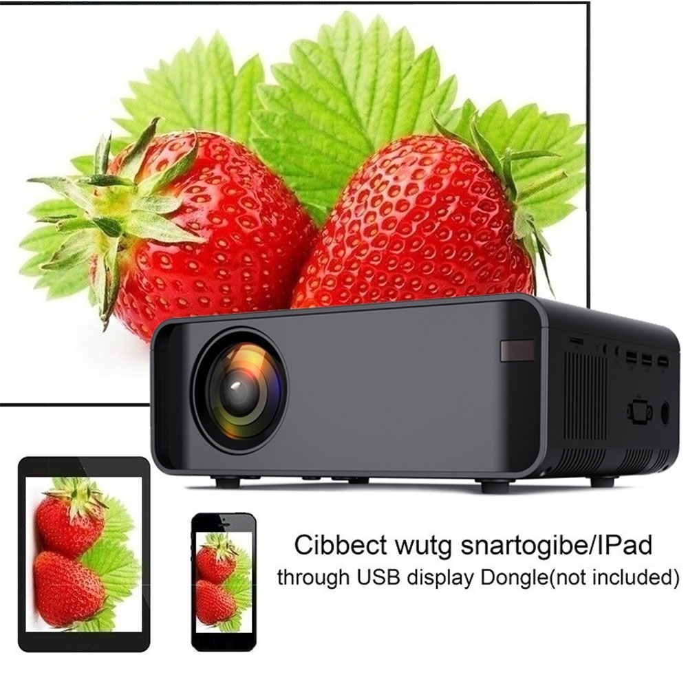 Projecteur de maison W80 HD HDMI/AV/USB/SD/VGA support câble sonore Dolby/wifi sans fil même écran version projecteur pour home Cinema