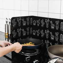 Foldable Kitchen Oil Splatter Screens Protection Aluminium Foil Plate Gas Stove Splash Baffle Cooking Tools Kitchen Accessories