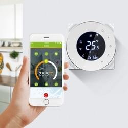 Bht-6000Gblw 16a wifi termostato de aquecimento elétrico de piso radiante termostato programável controlador temperatura ambiente (branco)