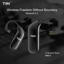 Bluetooth 5.0 Wireless Ear Hook TRN BT20 HIFI Earphone 2PIN/MMCX Connector For X6/IM1/IM2/V80/v30 Revonext QT5/QT2 Yinyoo