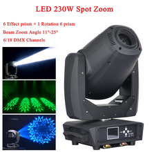 NEW Stage Light 260W LED Spot Zoom Moving Head  6/18 DMX Channels Beam Wash 3IN1 Strong For Party Disco DJ