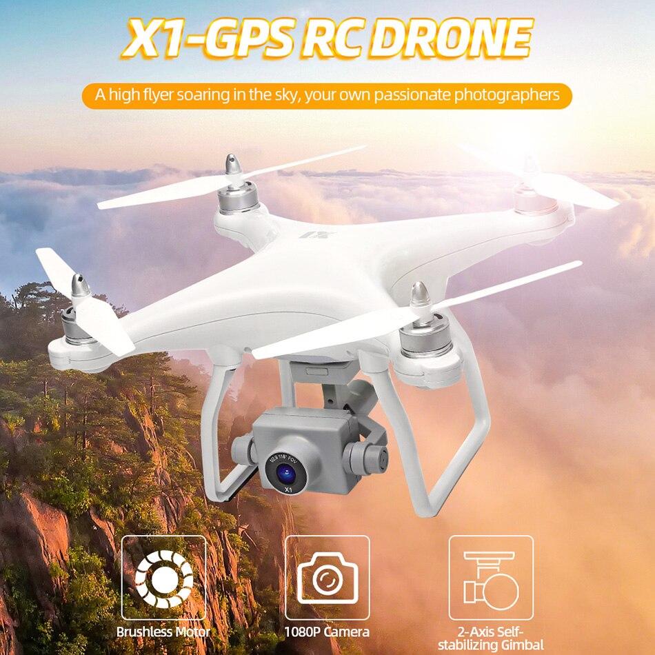 WL XK X1 Drone GPS dos eje cardán estabilizador 5G WiFi HD 1080P Cámara Drones profesional RC quadcopter Dron del F11 pro SG906 X6 - 2