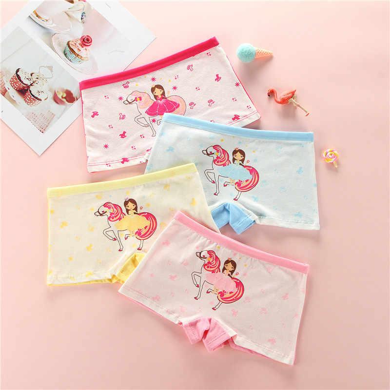 4 قطعة/الوحدة الأطفال الفتيات القطن سراويل للأطفال تصميم جديد جميل اللباس الداخلي الطفل داخلية طفل الملاكم ملخصات سراويل لينة تنفس