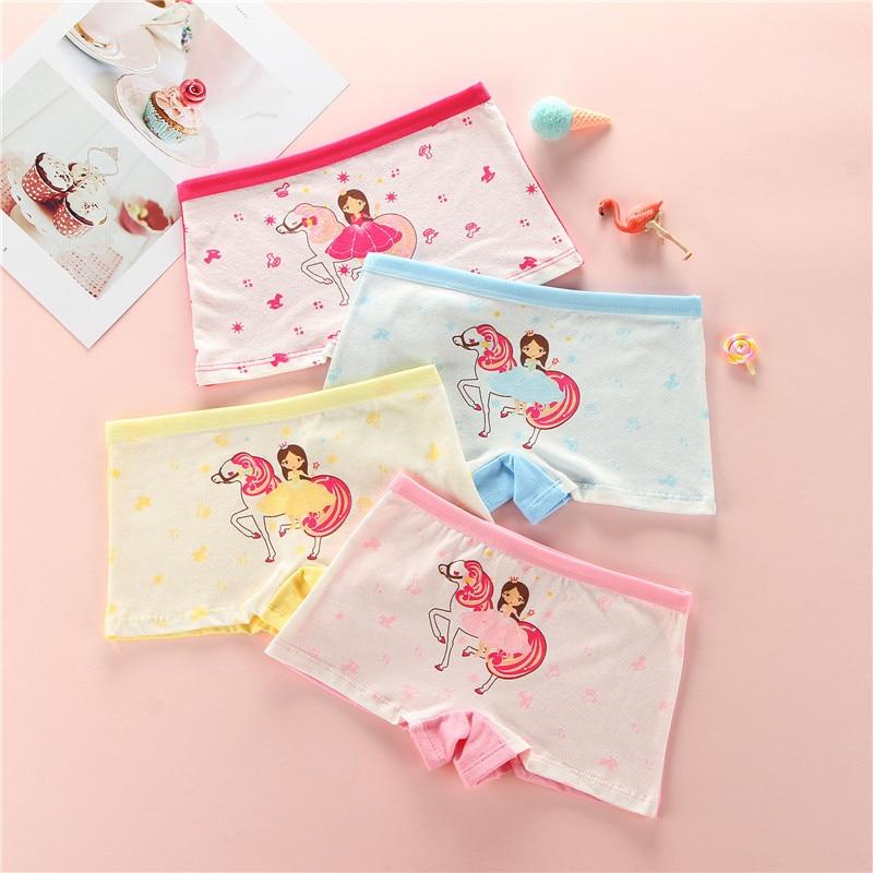 4Pcs/lot Children Girls Cotton Panties For Kids New Design Lovely Panty Child Underwear Kid Boxer Briefs Panties Soft Breathable