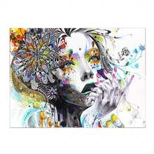 Домашний декор Постер абстрактный 1 шт мышление леди искусство