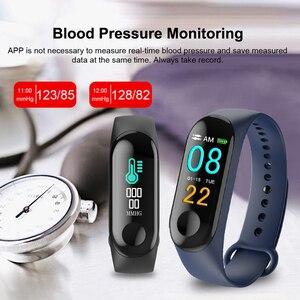 Image 5 - M3 الذكية شاشة ملونة ممارسة سوار معدل ضربات القلب ضغط الدم كشف اللياقة البدنية عداد الخطى متوافق مع أندرويد و IOS