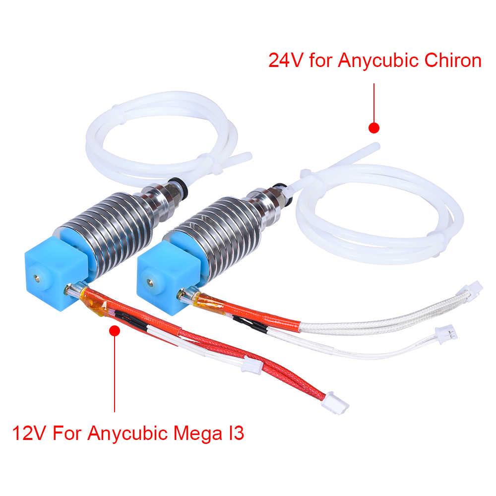 Extrusora Bowden I3 Mega Hotend 12V 24V V5 j-head Hotend, piezas de impresora 3D para Anycubic I3 Mega-S, piezas de mejora vs V6 Hotend