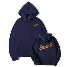Men's hoodie, wide sleeves, long sleeves, simple pockets, all printed hoodie pullovers by kawaige black side pockets long sleeves outerwear
