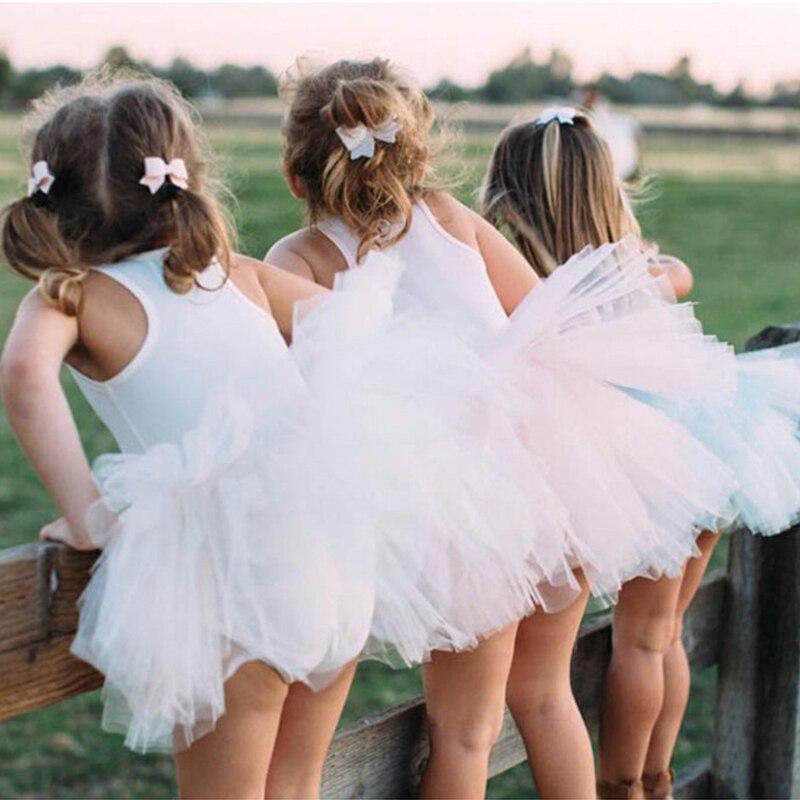 Элегантное платье-пачка для девочек, Летнее Детское танвечерние платье без рукавов, профессиональный костюм для выступления, детское плать...