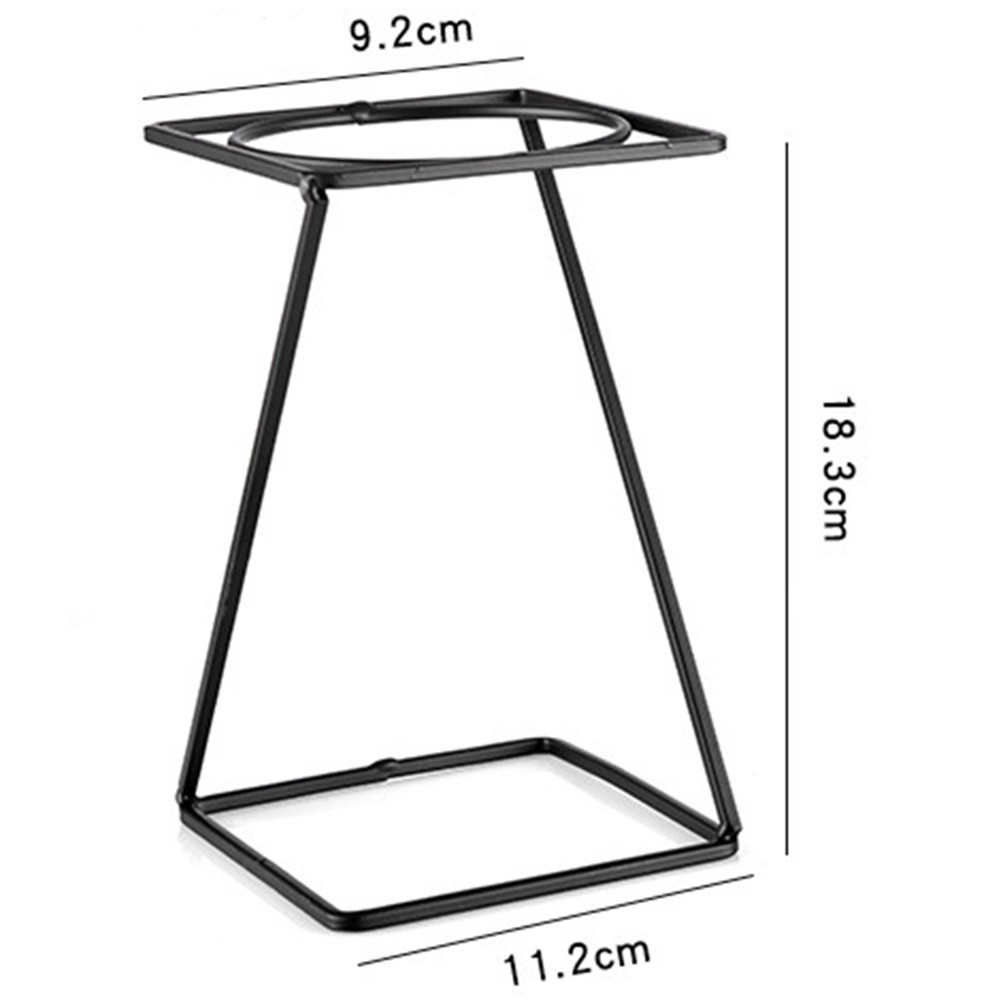Reusable Coffee Filter Rack Pour Over Coffee Organizer Iron Pour Over Maker Coffee Filter Holder Drip Coffee Non-slip Cup Stand