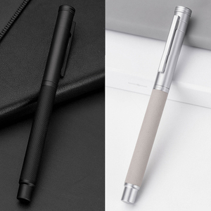 Image 4 - NEW Fountain Pen With Luxury Set 0.5mm Black F Nib Converter Pen Steel Ink Pens Simple Business Signing Pen Writing Pens
