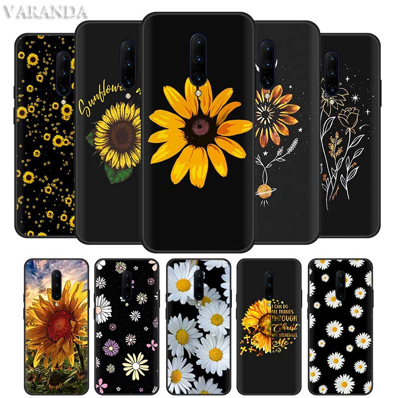 Yellow Flower Small Daisy Sunflower Cases For Oneplus 8 7T 7 Pro 5G 6T 6 For Motorola Edge G8 Plus Play G Power Lite Phone Cover