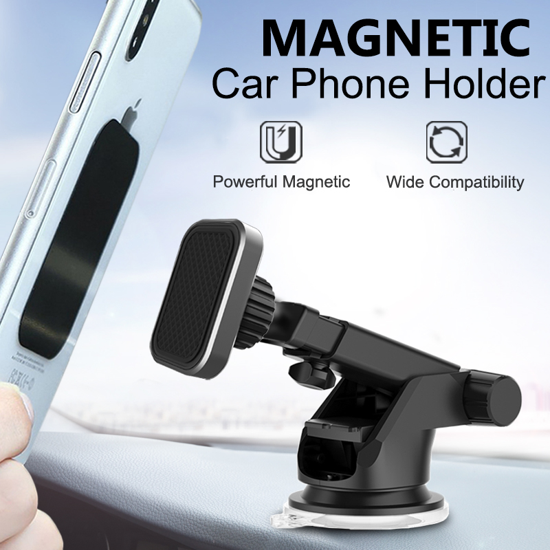 XMXCZKJ Universal Magnetic Car Mount Holder Windshield Dashboard Mount Holder for iPhone X Car GPS Air Vent Mount Magnet Holder