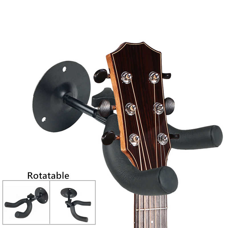 1Pc Guitar Hanger Wall Mount Holder Anti-slip Bass Hook Ukulele Stand Rack Violin Display Instruments Holder