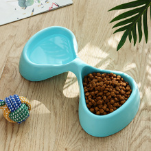 Dog Cats Double Bowl Puppy Food Water Feeder Cute  Butterfly Shape Drinking Dish Feeder Pets Feeding Dishes Dogs Cat Accessories dog double bowl puppy food water feeder cute stainless steel pets drinking dish feeder pets supplies feeding dishes dogs bowl