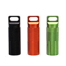 Waterproof Hike Box Survive Seal Trunk Container Case Holder Storage Camp Capsule Medicine Match Pill Outdoor Dry Bottle 3 Color
