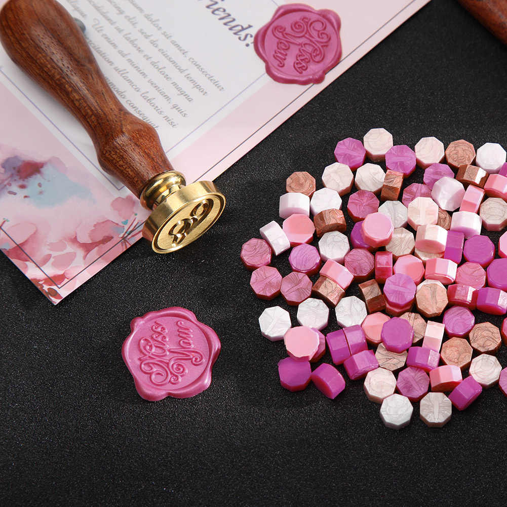 170pcs Retro Sealing Wax Pills Tablet DIY Mental Handmade Vintage Wax Stamp Scrapbooking Photo Beads for Envelope