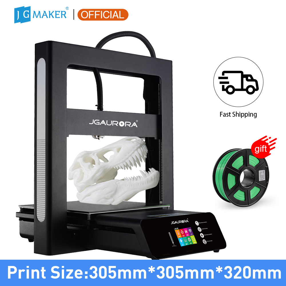 JGMAKER JGAURORA 3D Printer A5 Updated A5S Full Metal Diy Kit Extreme High Accuracy Large Print Size 305x305x320mm Impressora 3d