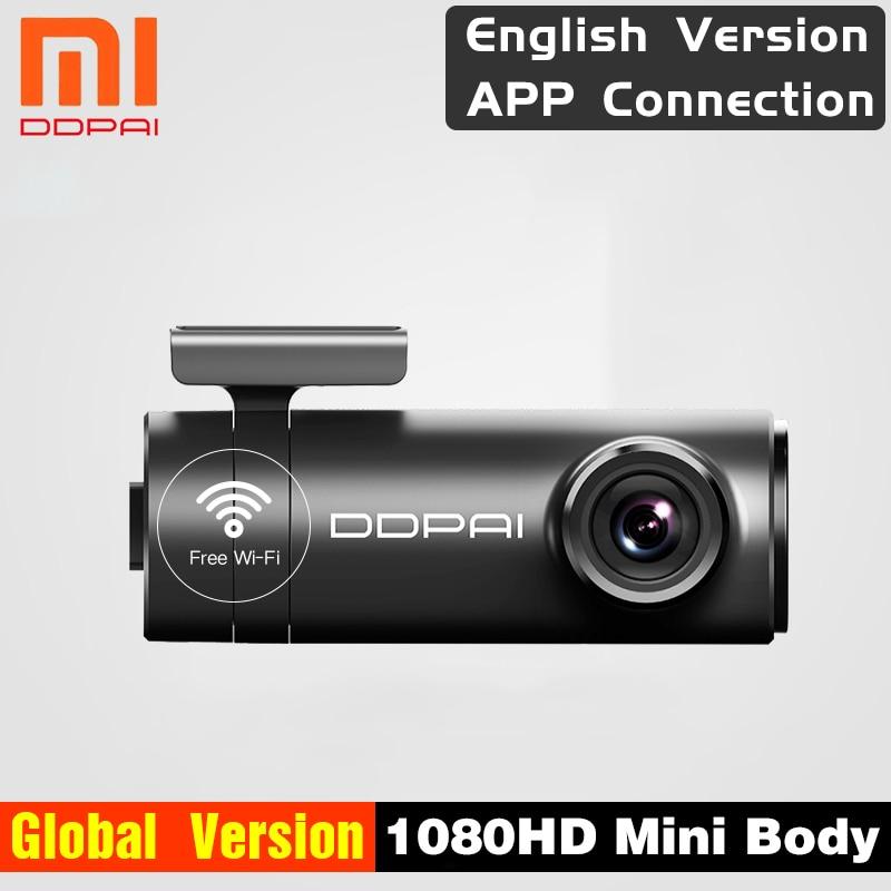 Version mondiale Xiaomi Mijia Mini DDPai Mini anglais DDPai tableau de bord caméra Mini corps Interface d'alimentation avant arrière enregistrement