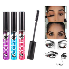 Eye Cosmetic Fiber Mascara Long Black Lash Eyelash Extension Waterproof Curving Lengthening Mascara Eye Makeup Tool цена 2017