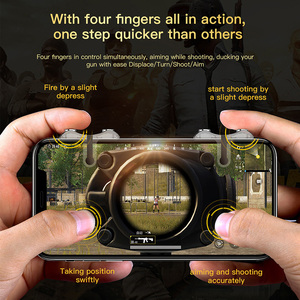 Image 2 - Baseus For PUBG Mobile Gamepad Joystick L1R1 Mobile Phone Game Shooter Controller Trigger Fire Button Handle for iPhone Android