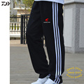 Daiwa свободные хлопковые полосатые штаны для рыбалки для мужчин  для велоспорта  пешего туризма  быстросохнущая одежда для рыбы  с карманом н...